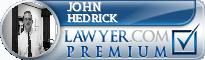 John Alfred Hedrick  Lawyer Badge