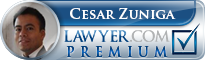 Cesar Zuniga  Lawyer Badge