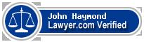 John Haymond  Lawyer Badge