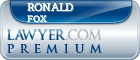 Ronald Fox  Lawyer Badge