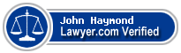 John Haymond  Lawyer Badge