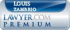 Louis Zambrio  Lawyer Badge