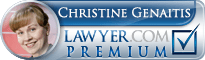 Christine Genaitis  Lawyer Badge