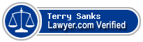 Terry M. Sanks  Lawyer Badge