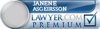 Janene Irene Asgeirsson  Lawyer Badge