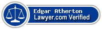 Edgar Eugene Atherton  Lawyer Badge
