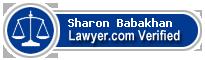 Sharon Paris Babakhan  Lawyer Badge
