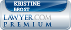 Kristine Mabel Brost  Lawyer Badge
