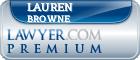 Lauren Bemis Browne  Lawyer Badge