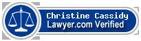 Christine Evelyn Cassidy  Lawyer Badge