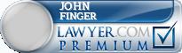 John Holden Finger  Lawyer Badge