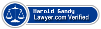 Harold Alan Gandy  Lawyer Badge