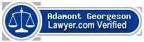 Adamont N Georgeson  Lawyer Badge