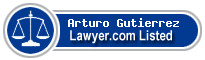 Arturo Gutierrez Lawyer Badge