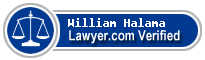 William Alan Halama  Lawyer Badge