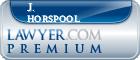 J. David Horspool  Lawyer Badge