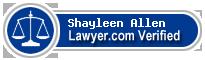 Shayleen Tiffany Allen  Lawyer Badge