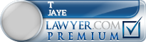 T Anthony Jaye  Lawyer Badge