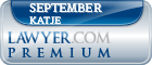 September Katje  Lawyer Badge
