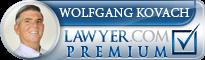 Wolfgang D. M. Kovach, Esq.  Lawyer Badge