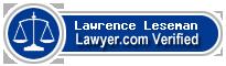 Lawrence Floyd Leseman  Lawyer Badge