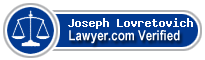 Joseph Mark Lovretovich  Lawyer Badge