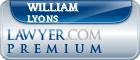 William M. Lyons  Lawyer Badge