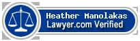 Heather Jane Manolakas  Lawyer Badge