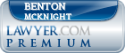 Benton Frank McKnight  Lawyer Badge