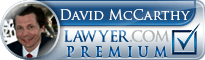 David Louis McCarthy  Lawyer Badge