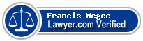 Francis Parker Mcgee  Lawyer Badge