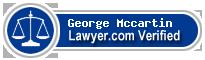 George Patrick Mccartin  Lawyer Badge