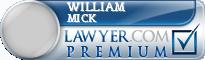 William Walter Mick  Lawyer Badge