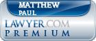 Matthew James Paul  Lawyer Badge