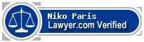 Niko Paris  Lawyer Badge