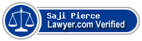 Saji Thomas Pierce  Lawyer Badge