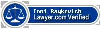 Toni Raykovich  Lawyer Badge