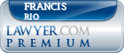 Francis James Rio  Lawyer Badge