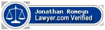 Jonathan William Romeyn  Lawyer Badge