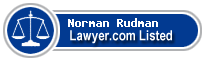 Norman Rudman Lawyer Badge