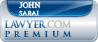John David Sarai  Lawyer Badge
