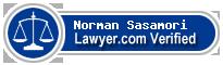 Norman Cousins Sasamori  Lawyer Badge