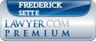 Frederick Joseph Sette  Lawyer Badge