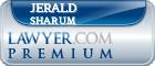 Jerald A. Sharum  Lawyer Badge