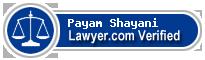 Payam Mark Shayani  Lawyer Badge