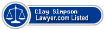Clay Simpson Lawyer Badge