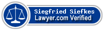 Siegfried Herman Siefkes  Lawyer Badge