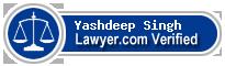 Yashdeep Singh  Lawyer Badge