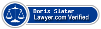 Doris Brigitte Hale Slater  Lawyer Badge