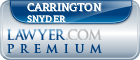 Carrington Snyder  Lawyer Badge